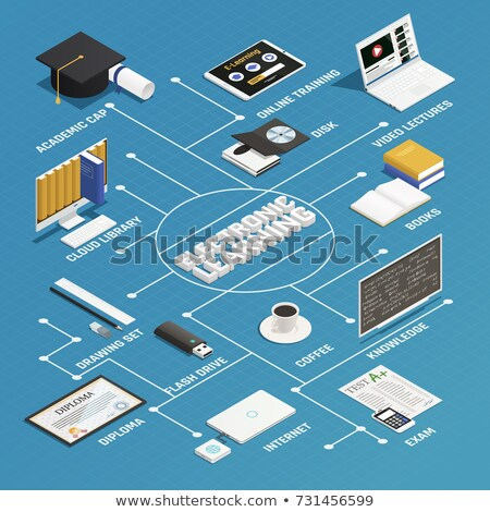 Boek flash drive elektronische leren illustratie Stockfoto © lenm