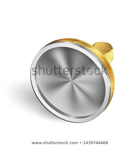 Laying Yellow Metallic Impression Stamp Vector Stock photo © pikepicture