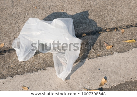 Garbage Bin with Plastic Bag and Litter Rubbish Stock photo © robuart