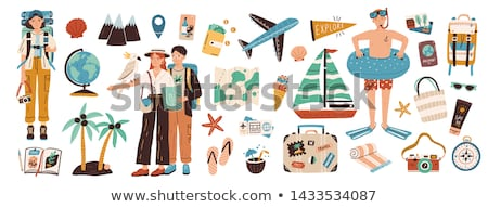 Couple with Map, Travelers or Hikers, Vacation Stock photo © robuart