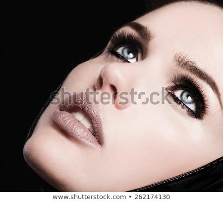 seksi · kırmızı · dudaklar · güzel · dudak · makyaj · şehvetli - stok fotoğraf © serdechny