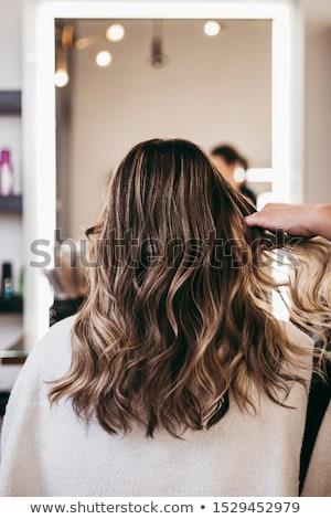 Hair salon. Fashion and beauty concept. Fashion model Stock photo © serdechny