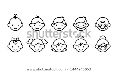 Crianças ícones ilustração branco projeto fundo Foto stock © get4net