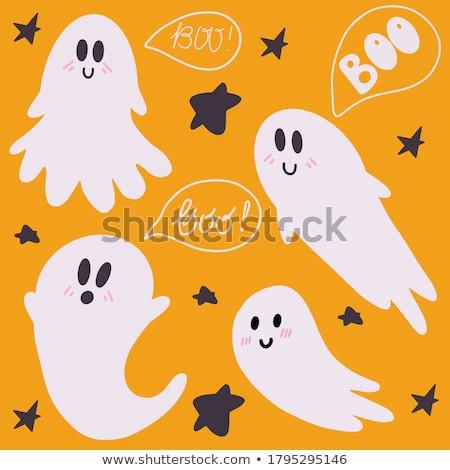 Hátborzongató halloween éjfél illusztráció tökök telihold Stock fotó © sgursozlu