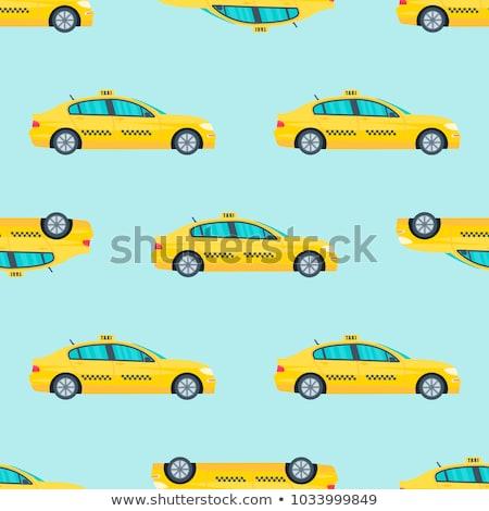 Online taxi vector dun lijn Stockfoto © pikepicture