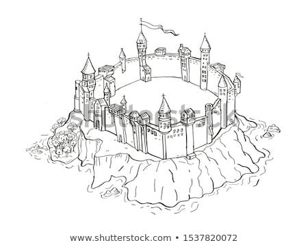 Castello fortezza isola vintage fantasia mappa Foto d'archivio © patrimonio