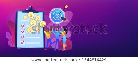 Project banner geslaagd business deal Stockfoto © RAStudio