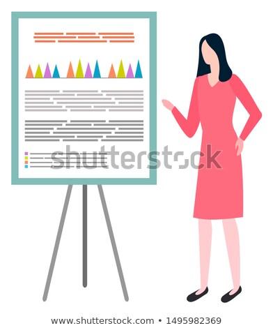 женщину совета финансовых статистика Сток-фото © robuart