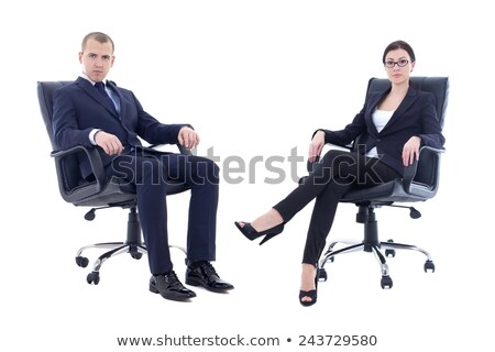 Young handsome politician sitting in office  Stock photo © Elnur
