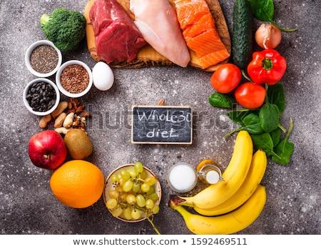 Gezonde producten geheel 30 dieet gezonde voeding Stockfoto © furmanphoto