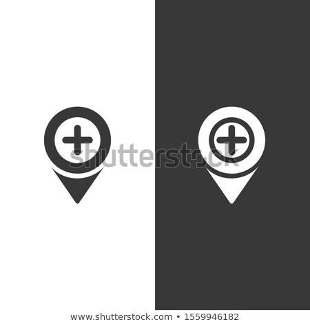Pharmacy location. Isolated image. Urban service vector illustration Stock photo © Imaagio