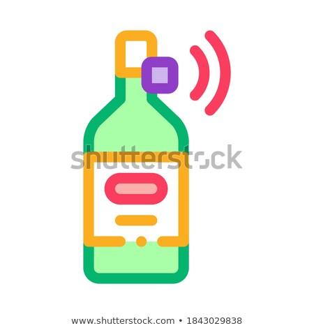 Botella senal sensor icono vector Foto stock © pikepicture