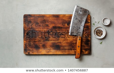 Old wood-handled meat cleaver Stock photo © Digifoodstock