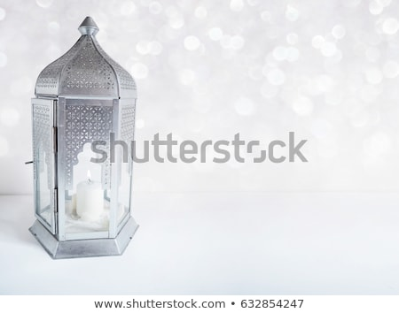 Ornamental Arabic lantern on white background. Stock photo © choreograph