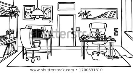 Dibujado a mano ilustración Cartoon estudio oficina Foto stock © vasilixa