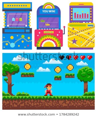 Gamble macchina pixel gioco avventura icona Foto d'archivio © robuart