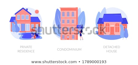 Single family home abstract concept vector illustrations. Stock photo © RAStudio