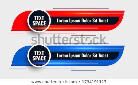 two modern lower third template design banner Stock photo © SArts