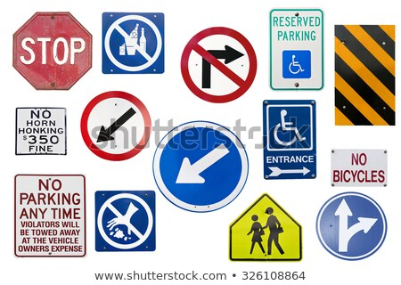 Beaucoup britannique trafic signes chaotique ensemble Photo stock © creisinger