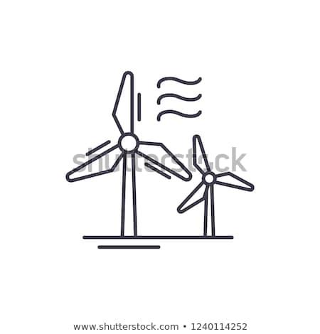 vector set of wind turbine Stock photo © olllikeballoon