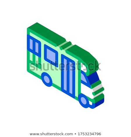 Public Transport Paratransit isometric icon vector illustration Stock photo © pikepicture