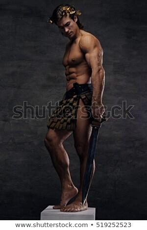 студию меч портрет красивый мышечный Сток-фото © Jasminko