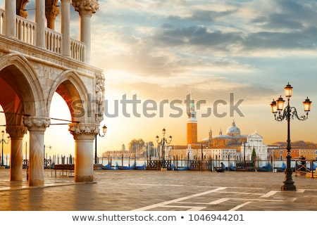 Gondolas and in lagoon of Venice by San Marco square. Venice, Italy Stock photo © dmitry_rukhlenko