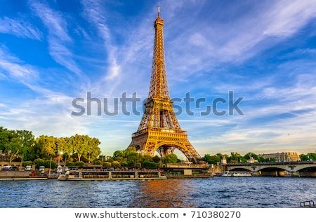 Photo stock: Paris · détaillée · vecteur · Skyline · affaires · ciel