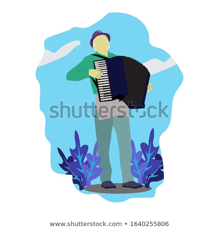 Accordion player Stock photo © ldambies