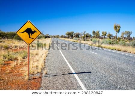 Uluru Highway Sign Stock photo © kbuntu