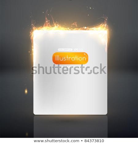 WWW огня сжигание текста пламя черный Сток-фото © PeterP
