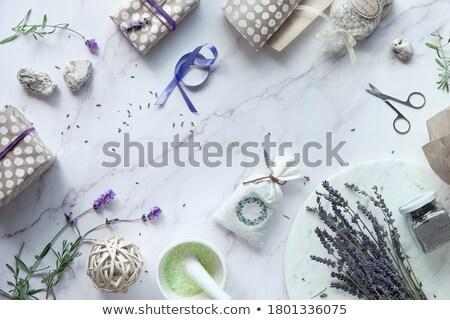 lavanda · azúcar · alimentos · mesa · vida · jar - foto stock © joannawnuk