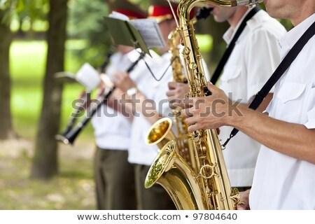 zenekar · színpad · vezető · szimfónia · kezek · közelkép - stock fotó © paha_l