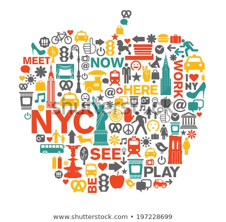 New · York · Central · Park · çeşme · kentsel · Manhattan · ufuk · çizgisi - stok fotoğraf © rabbit75_sto