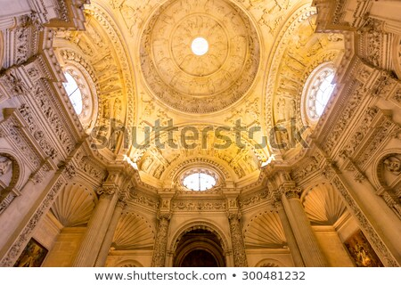 Stok fotoğraf: Interior Of Cathedral Of Seville Andalusia Spain