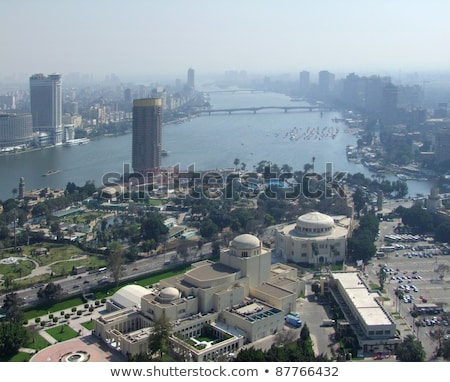 Cairo aerial view in sunny ambiance Stock photo © prill