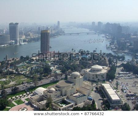Kairó · légifelvétel · szmog · Egyiptom · tipikus · város - stock fotó © prill