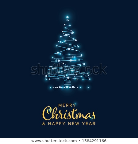 vector christmas tree from digital circuit stock photo © orson