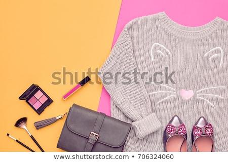 Elegant autumn vintage fashion lady stock photo © glyph
