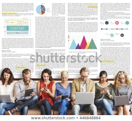 Stock photo: Internet Blog Reader Concept