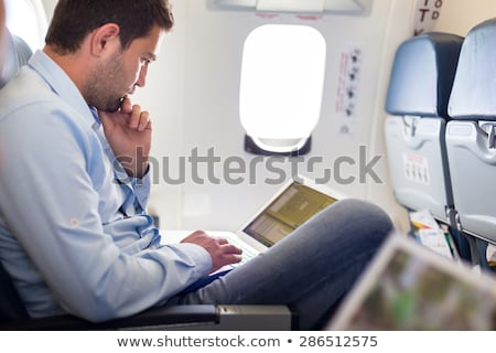 Laptop · Flugzeug · alle · Auswirkungen · Gradienten · Mesh - stock foto © pkdinkar