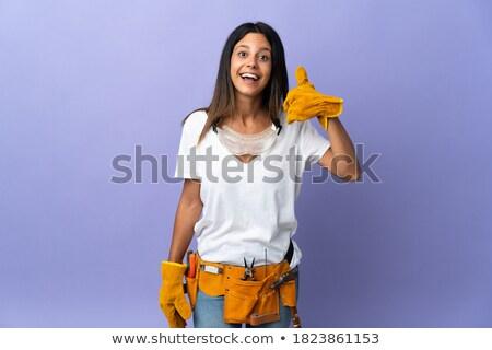 ремесленник знак счастливым контакт Сток-фото © photography33