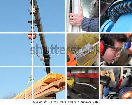 Construction materials collage Stock photo © lightkeeper