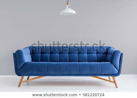 Kék kanapé divat háttér retro szín Stock fotó © ozaiachin