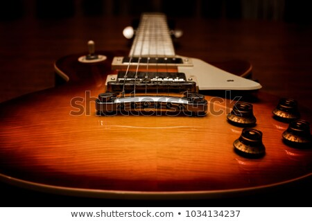 Blue and ivory bass guitar Stock photo © marionbirdy