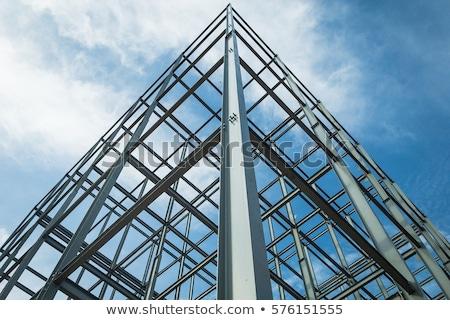 staal · metaal · frame · veiligheid · net · blauwe · hemel - stockfoto © xedos45