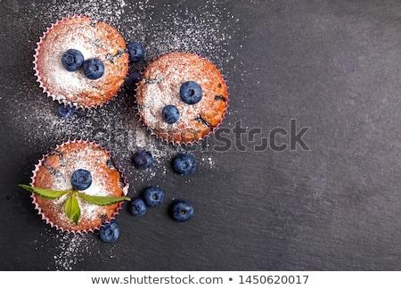 groselha · bolinho · branco · comida · fundo - foto stock © dornes