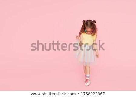 девушки · обувь · цветок · ребенка · ходьбы - Сток-фото © dornes