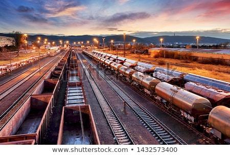 Vasút vonat sín állomás autó utca Stock fotó © Ansonstock