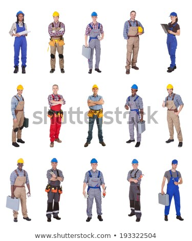 Female plumber standing on white background Stock photo © photography33